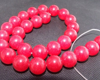 Strands14mm red jade gemstone bead Loose One strand