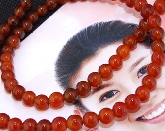 Red Agate 6mm Gemstone beads Loose One strand 15.5""