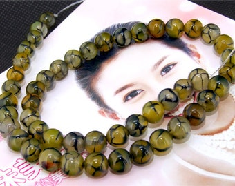Dragon Agate 8mm Gemstone beads Loose One strand 15""