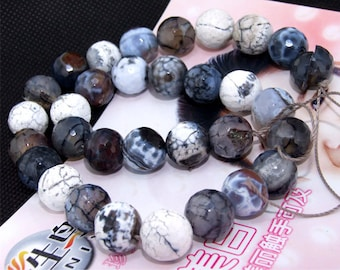 Faceted Agate 12mm Gemstone beads Loose One strand 15""