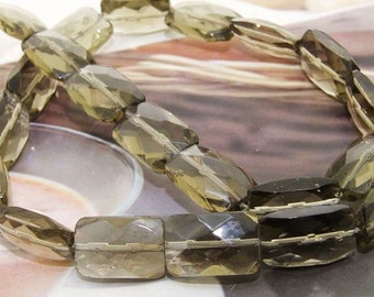 Faceted smoky glass crystal 10-15mm gemstone beads Loose One strand