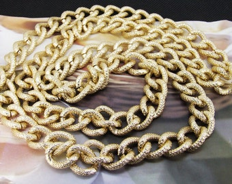 13m Dot Loop Textured  Chain Light Gold Chain 14mmx17mm  Metal Aluminum Twist One Curb Chains 4mm