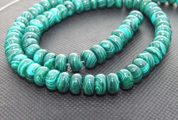 "Strands 8mm malachite jasper circle gemstone bead Loose One strand 16"""