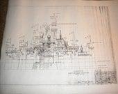 Vintage BLUEPRINT Copy of Sleeping Beauty CASTLE in Fantasyland, DISNEYLAND