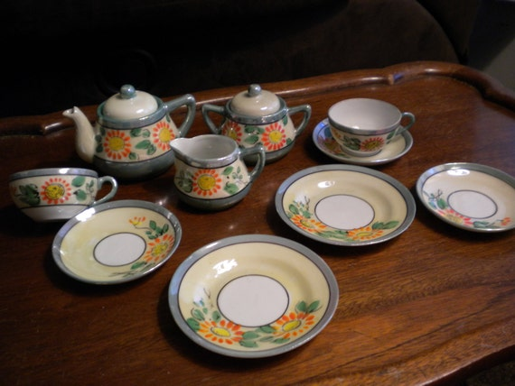 Child's Vintage Lusterware Tea Set Made in Japan