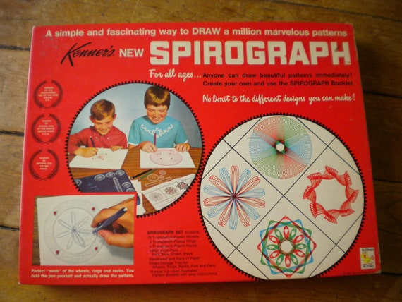 NIB SPIROGRAPH 1967 Vintage Kenner Design Drawing Toy 401 Never Opened