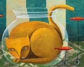 Aquatic cat by Carlos C. Lainez