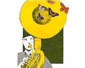 Sousaphone.  Print poster 16,5 x 11,6 (A3) by Carlos C. Laínez