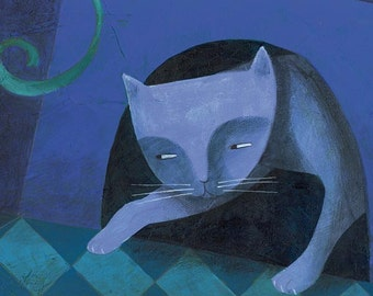 Mouse Cat. Print 4.7 x 15.5 inches limited edition