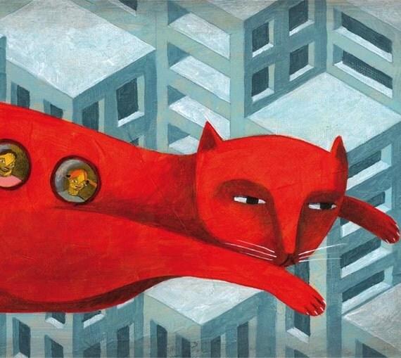 The bus cat by Carlos C Lainez