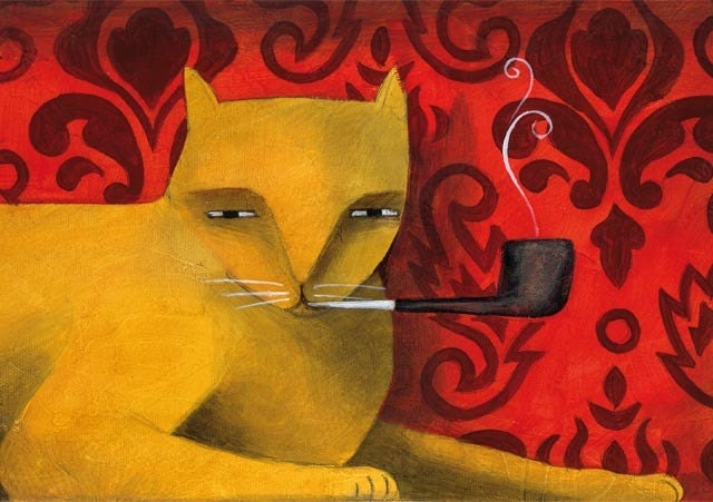 The Smoking Cat By Thesmokingcat On Etsy
