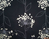 Reserved - Flowers bloom at night, wide, 1 yard and 1 fat quater, pure cotton twill fabric