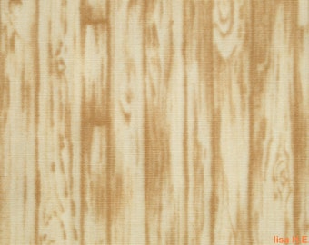 Log cabin in butter yellow and pale brown, 1/2 yard, pure cotton fabric