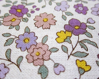 SALE - Purple garden, fat quarter, pure cotton fabric