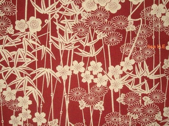 Retro Japanese bamboo, fat quarter, pure cotton fabric