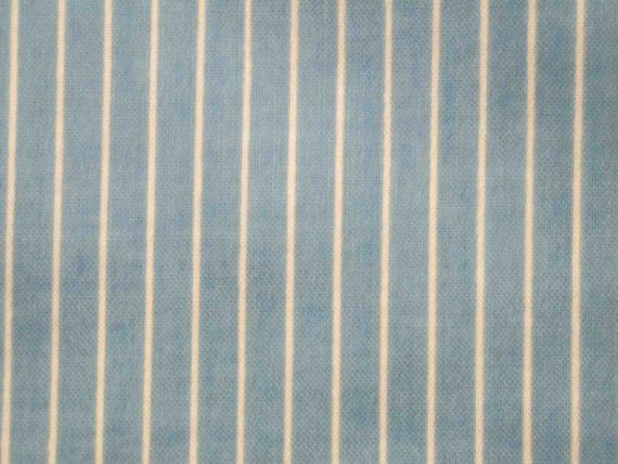 Modest blue and ivory stripes, fat quarter, pure cotton fabric