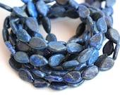 Blue Lapis Lazuli Smooth Teardrop Beads 11x7mm HALF STRAND (7.5 Inches)