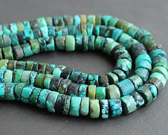 Turquoise Heishi Beads 9mm FULL STRAND (16 Inches)