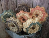 Scrappy Flower Bouquet Farmhouse Shabby Cottage Chic French Country Primitive Decor