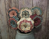 Primitive Americana Flower Bouquet Patriotic