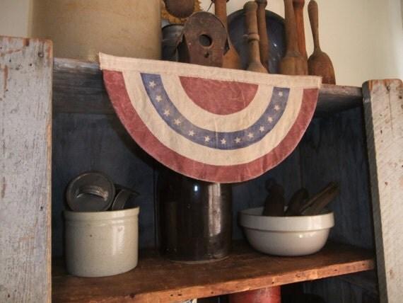 Primitive Americana  Bunting Flag