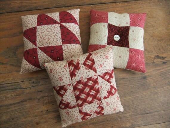 Quilt Pillow Bowl Fillers Tucks Primitive Farmhouse Country Rustic Decor