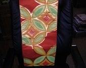 Woven SHIPPO TREASURE design Fukuro silk Obi  CITRUS  approximately 165 x 11.75 inches