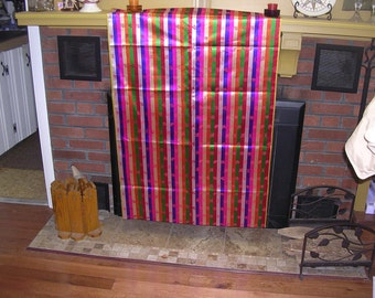 PRICE reduction  STUNNING and Super Wide vintage Japanese Kimono silk  Vivid STRIPES  71 x 30 inches