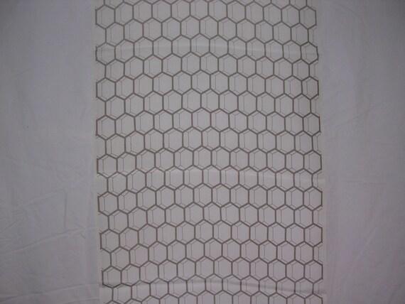 Vintage Kimono Silk Geometric  2 pc  14 X 37 inches