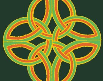 Celtic Loop Knotwork T-Shirt XL