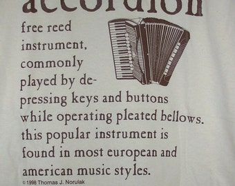 Accordion Definition T Shirt
