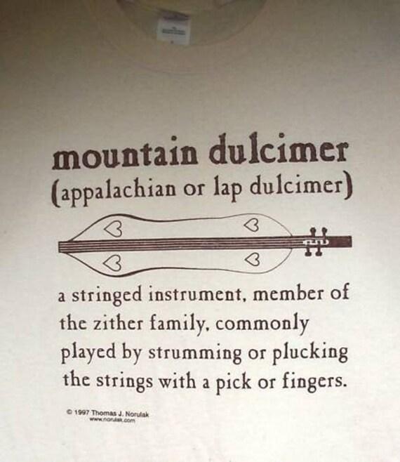 Hand Screenprinted Mountain Dulcimer Definition T-Shirt