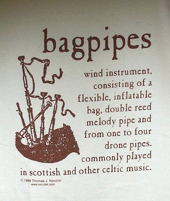 Hand Screened Bagpipe Definition T-Shirt