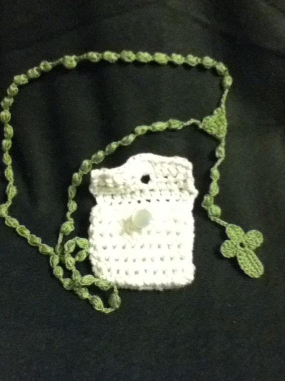 Crochet Rosary Pattern Pdf With Pouch Pattern By Amrdesigns7