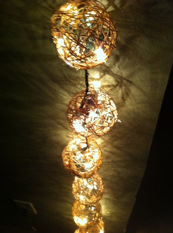 Decorative String Light Rattan Balls