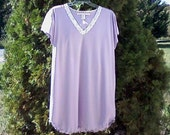 Pointelle knit Menopausal Cap Sleeve Night gown