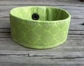 Fabric Bracelet- Reptilian Greens