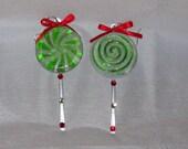 Lollipop Peppermint Swirl Earrings