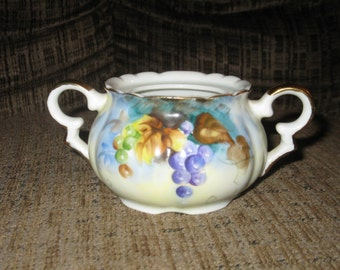 Lefton hand painted sugar bowl