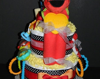 Elmo Blankie Diaper Cake - Can Be Customized with Additional Items