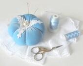 Pincushion BLUE SHABBY CHIC - tbteam
