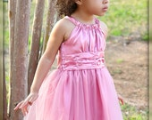 Spring Flower Girl Dress in Dusty Rose Pink