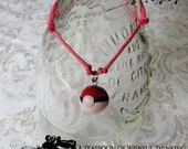 Pokeball on Pink Bracelet