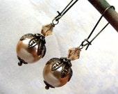 Romantic baroque III -bridesmaids wedding  bridal vintage dangle earrings