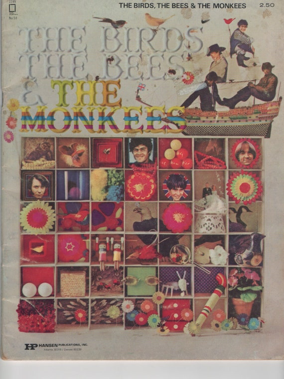 Vintage 1960s Monkees Music Song Book Birds Bees Original