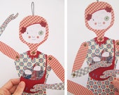 Lucía, articulated paper doll