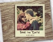 Polaroid Save the Date Magnet- Choice of 4 backgrounds