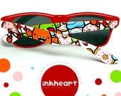 Sunglasses - Sweets and Candies - Handpainted Custom Wayfarers
