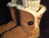Hand knit boot toppers, boot cuffs, boot buffers, leg warmers.  NEW YEAR TREND. Transform your existing boots.