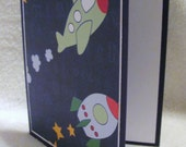 Airplane and rocket children's card